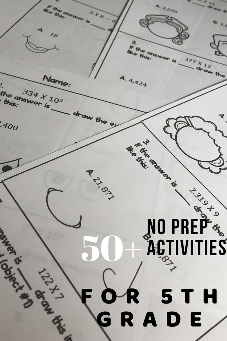 5th Grade Project Based Learning Bundle Math Writing And More