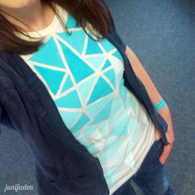 junifaden: DIY Textilfarbe auf Schuhen und Shirts ;)