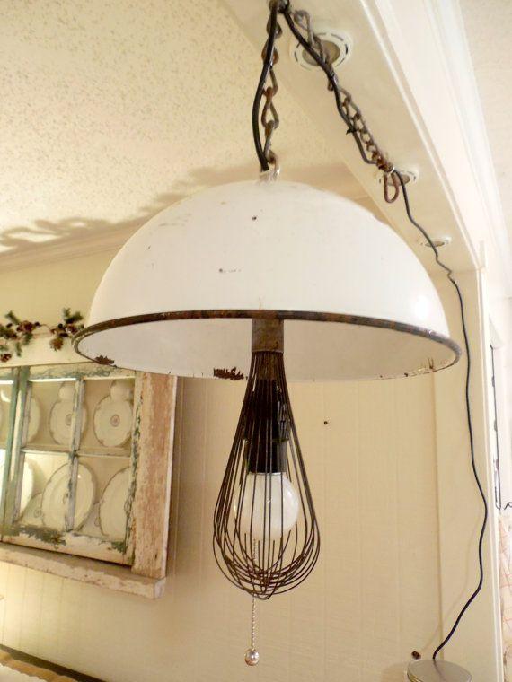 WISK U0026 BOWL Hanging Light By Benchmarklights On Etsy, $72.00