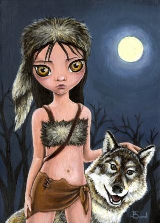 Werewolf girl by Tanya Bond, via Flickr