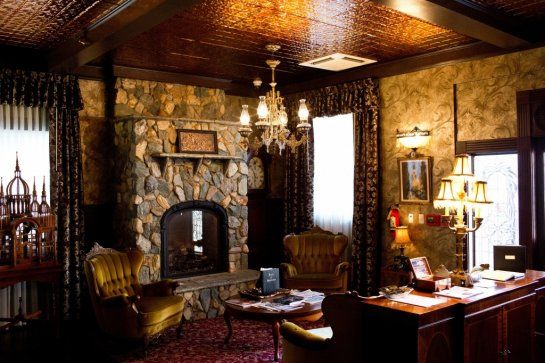National Hotel, Jackson California.  Although it's boasting a facelift as of late, the National Hotel, built in 1852, still offers a Gold Rush-era vibe with restored Victorian furniture and a dark downstairs bar where you may feel compelled to get comfortable and order a whiskey.