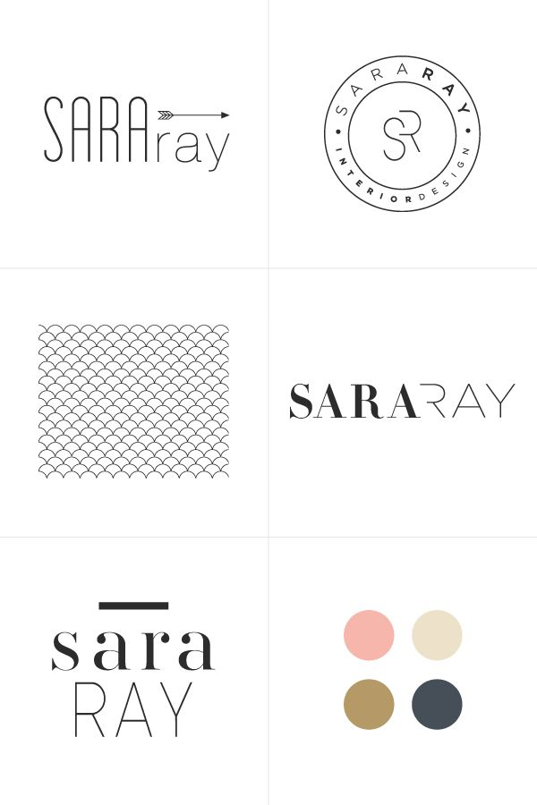 logo process for sarah ray (by breanna rose)