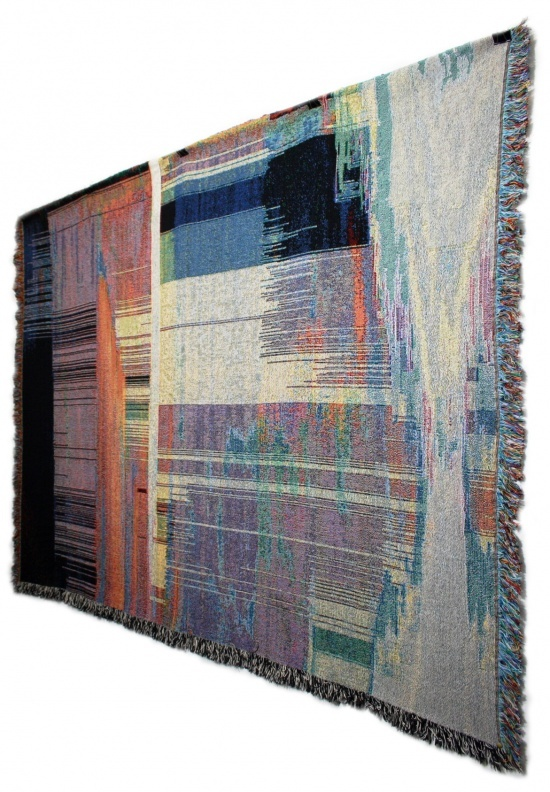 Philip Sterns: Blanket made from an image using an Olympus C-840L  From: http://phillipstearns.wordpress.com