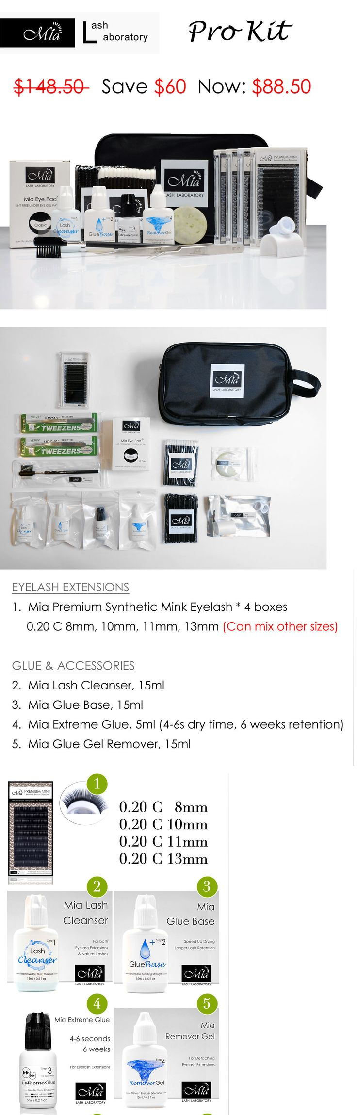 False Eyelashes and Adhesives: Lash Artist Kit For Professional Eyelash Extension Semi Permanent School Academy -> BUY IT NOW ONLY: $88.5 on eBay!