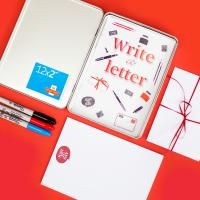 Brand new. Start writing to your grandchildren and they can write back using our guidelines and cute instructions and suggestions in the tin. Perfect Christmas gift.