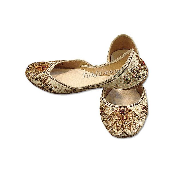 LOVE khussa shoes!  I need a new pair!  Product Details- Khussa shoes, khussa slippers, fancy khussa shoes ($28) ❤ liked on Polyvore