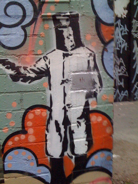 Ned Kelly Stencil in Melbourne (@rentoid)
