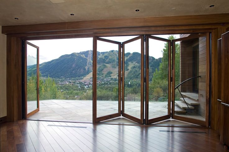Amazing view photos: accordion glass doors. On the page posted a beautiful photo accordion glass doors, You can choose the doors that You like and order for your home. Only natural materials, this is the main thing about this doors. Wooden frames and clear glass this is what will suit perfect for you house. Install …