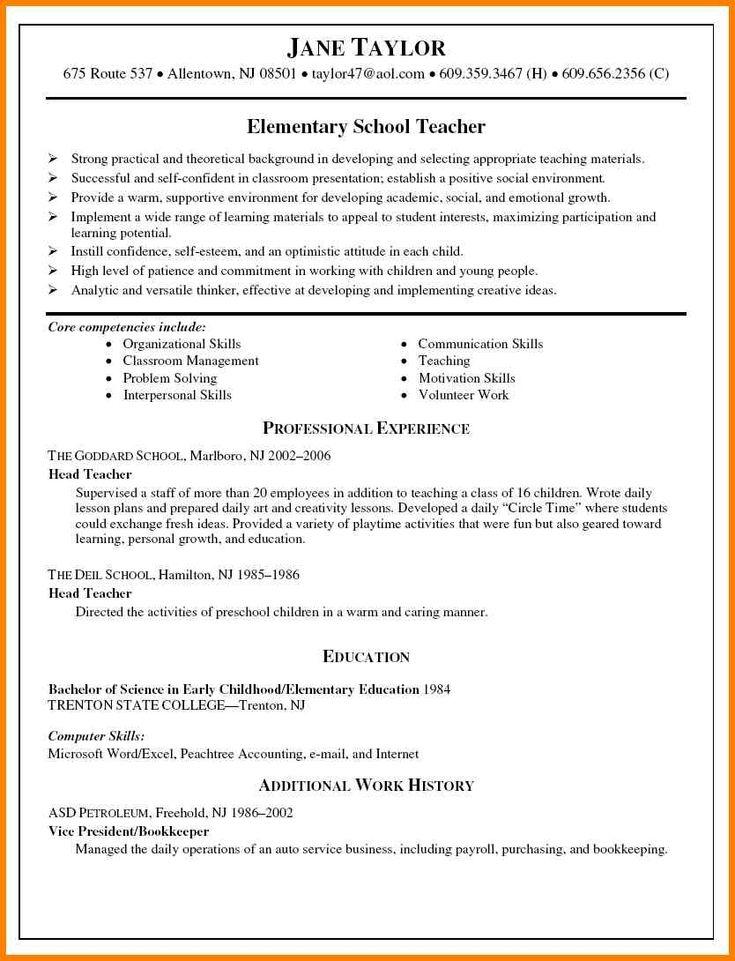 4+ elementary teacher resume format | cashier resumes