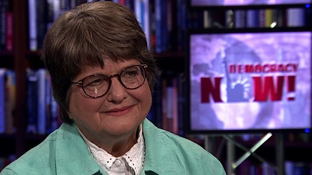 """In this extended web-only interview, Sister Helen Prejean talks about the 20th anniversary of her landmark book """"Dead Man Walking,"""" that chronicles her years of anti-death penalty activism. [includes rush transcript]"""