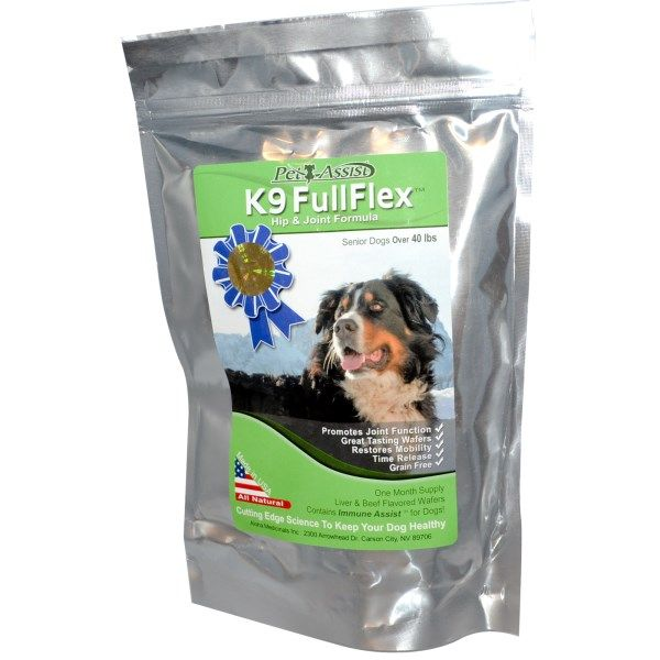 K9 FullFlex, Hip & Joint Formula, For Senior Dogs. The Best supplement for your dog! We started giving this to our then 10 year old Golden Retriever when she started having trouble standing. We thought she was going lame because hip dysplasia runs in this breed. Within a couple weeks she was playing and running like a puppy. We recommend this product to everyone we know and meet that has a dog! Happy Cat Tips Pets