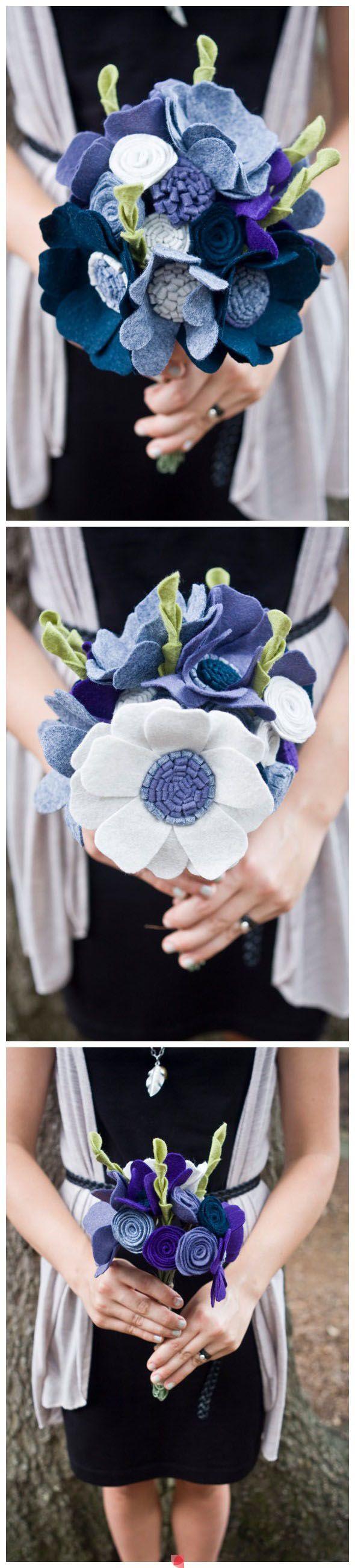 #diy felt flower bouquet. Nx