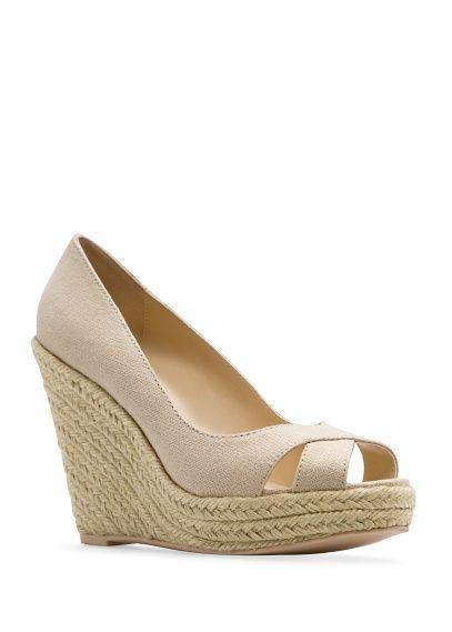 Peeptoe-Schuhe mit Espadrille-Absatz