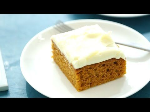 Pumpkin Bars with Cream Cheese Frosting - YouTube