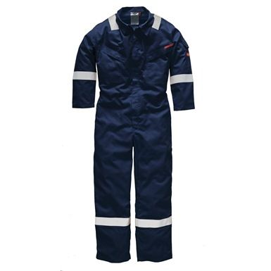 This Dickies Lightweight Pyrovatex Coverall is a 100% Flame Retardant treated cotton 220 gsm coverall that's been designed to offer exceptional protection from heat and flames in the workplace. It's also highlighted with reflective tape to enhance the visibility of the wearer in low light conditions.