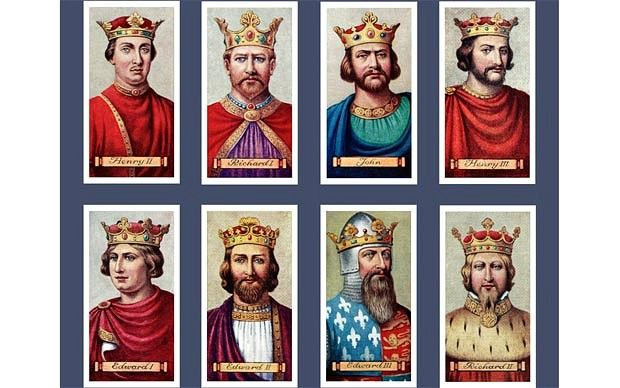 The quarrelsome line of Plantagenet kings, whose history is recounted in Dan Jones's 'The Plantagenets'Photo: Alamy