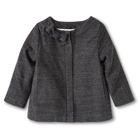 Toddler Girls' Peacoat with Lurex Grey - Cherokee®