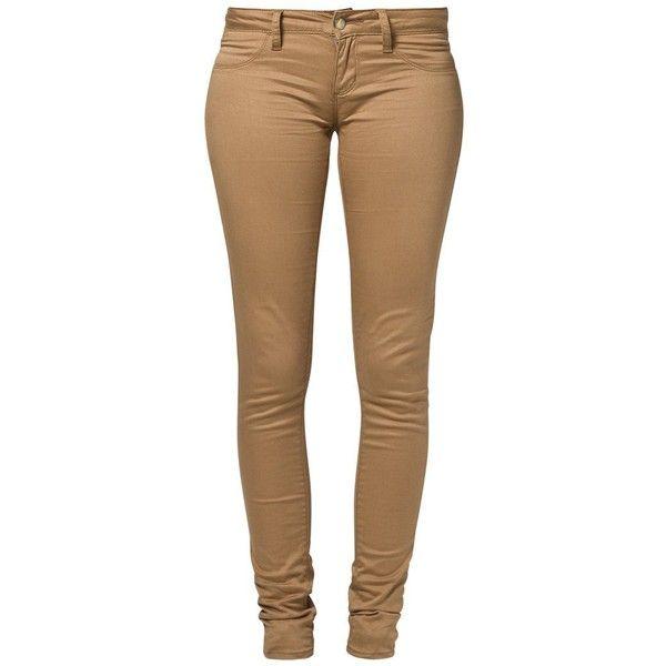 Monkee Genes Slim fit jeans Beige ❤ liked on Polyvore