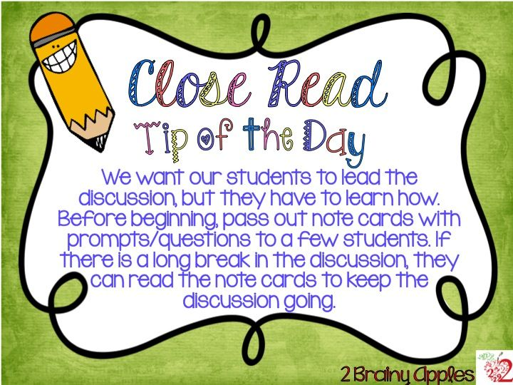 Close Read Tip of the Day #13: How to help your students continue the discussion...