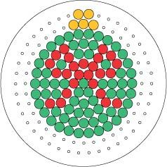 Christmas bauble ornament perler bead pattern