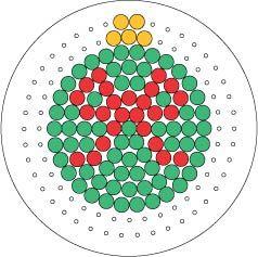 Christmas bauble ornament perler bead pattern