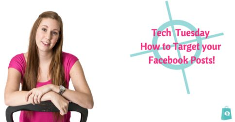 It's Tech Tuesday! Today I will show you how to target your Facebook posts so that only people who match your targeting will see them!   Check out the easy to follow video here: http://www.thesocialsalesgirls.com/blogs/news/18676023-tech-tuesdays-targeting-your-posts  -Meghan