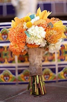 beautiful flowers, good for a fall wedding.