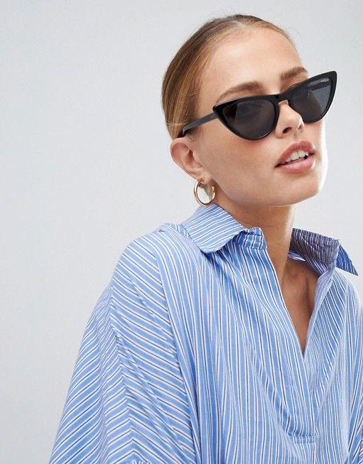 69a87a4b87 Vogue | Vogue Eyewear 0VO5211S cat eye sunglasses in black by Gigi Hadid