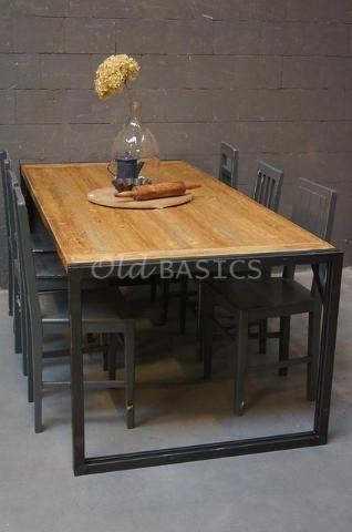 17 beste idee n over ijzeren tafel op pinterest naaikamers strijkplank tafels en doe het zelf - Eigentijdse eettafel ...