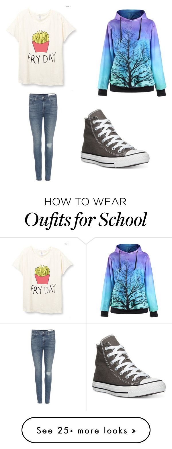 """""""School outfit"""" by millie-llama on Polyvore featuring rag & bone and…"""