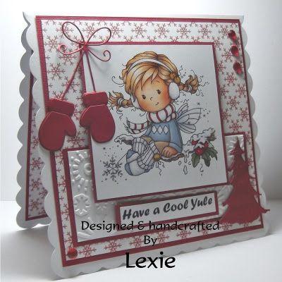 handmade Card, Christmas, Hobby House Wee Topper, Syliva Zet
