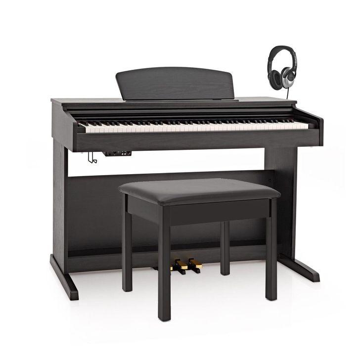 DP-10X Digitalt Piano fra Gear4music + Pianokrakk - Pakke, Matt Svart hos Gear4music.com