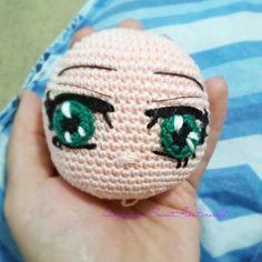 Anime eyes by Chiharu Suh #amigurumi #crochet #eyes #anime #cute #otaku #SaoriKido #AthenaEyes