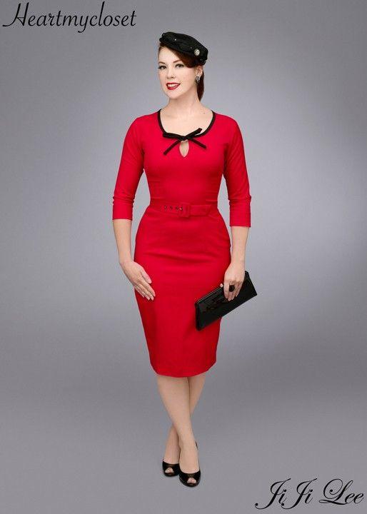 BELLA rockabilly vintage inspired dress 40s 50s by heartmycloset, $92.00