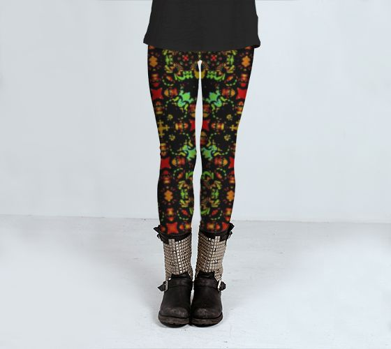 Intense Floral Print Leggings from Artofwhere Intense digital collage and photo manipulation technique floral print leggings with decorative ornament pattern in vibrant and saturated tones. print leggings, print leggings buy online, print leggings for sale, art print leggings, refined print leggings, printed leggingss, pattern print leggings, tribal print leggingss, nature print leggings, floral print leggings, ornament print leggingss, print leggings for gift
