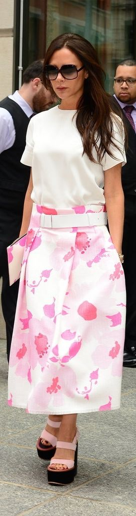 Victoria Beckham Wears Her Own Distinctive Looks With Ease