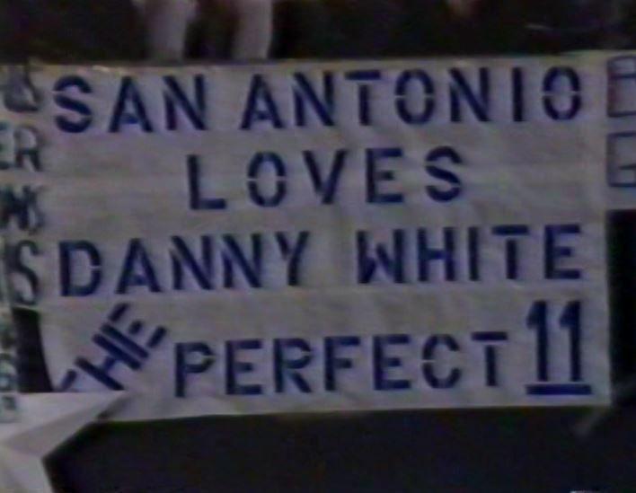 "Banner at Texas Stadium on ""Monday Night Football""--November 9, 1981"