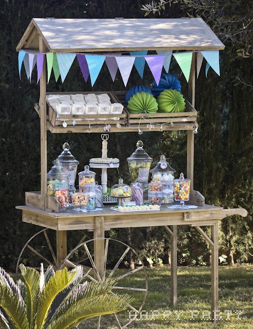 I'm doing a candy buffet for Dana & Drew's wedding. This cart would be perfect for their outside wedding at our place.
