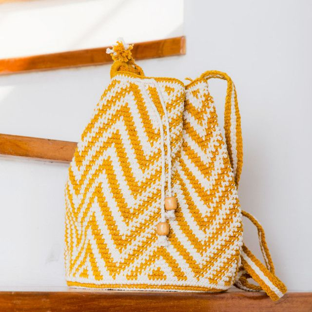 Natural Aguacatan Crocheted Bag by ALTIPLANO