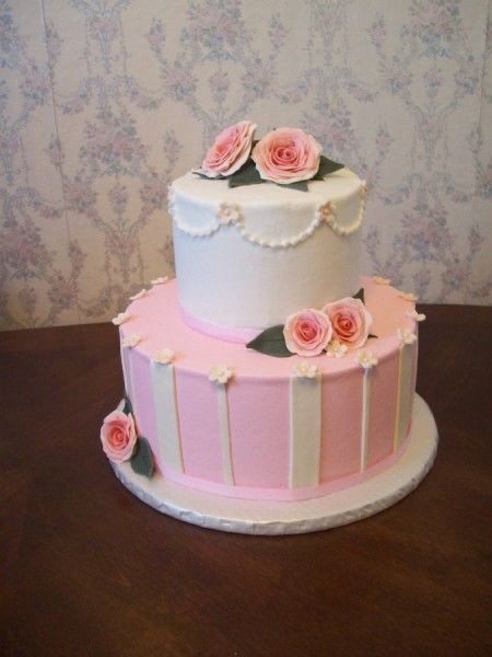 Pictures Of Two Tier Birthday Cakes