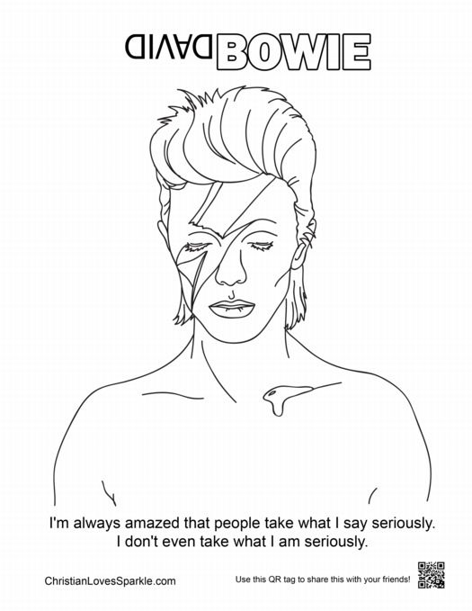 coloring page david bowie bowie