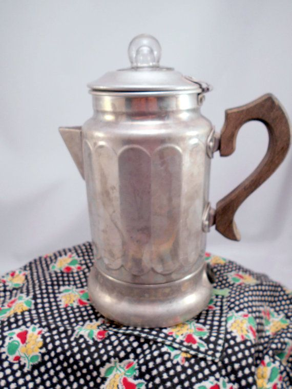 Antique Toy Coffee Pot Percolator Electric by MothersMiniTreasures, $18.50
