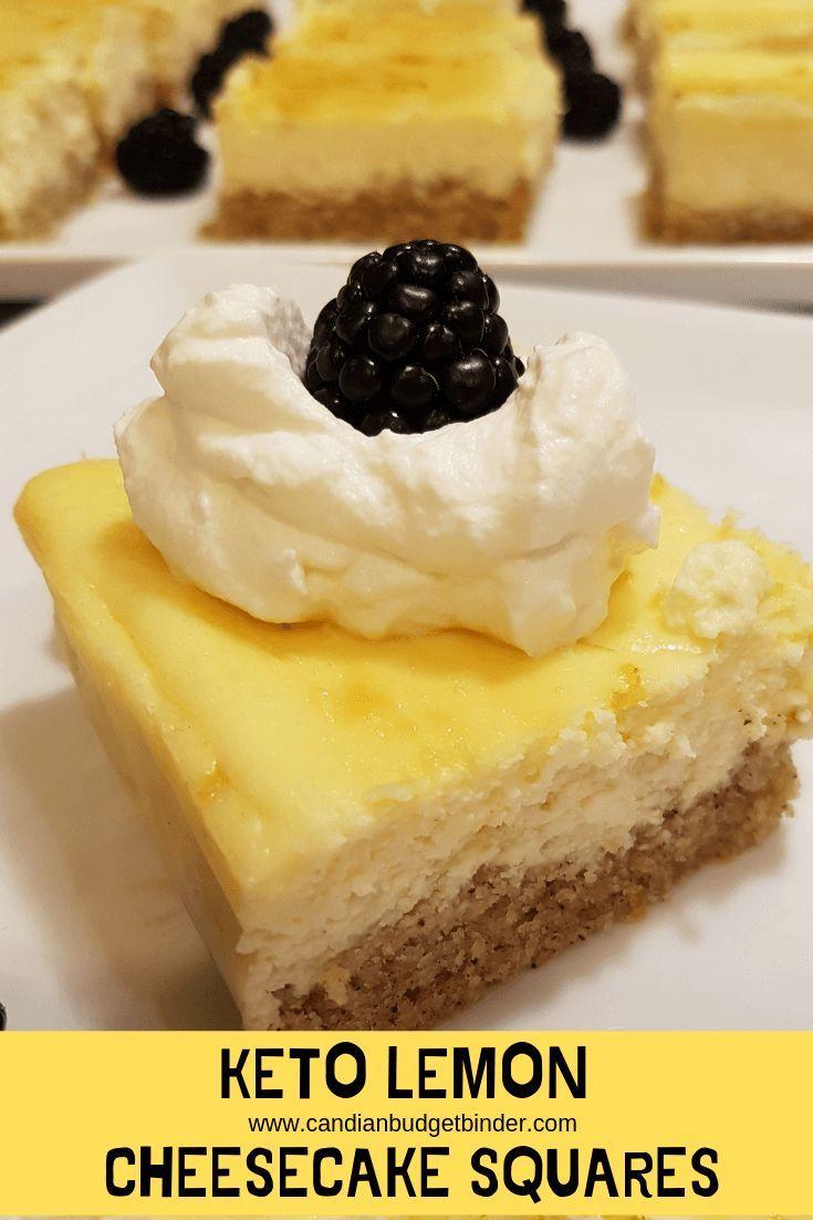 Keto lemon cheesecake squares zuckerfrei glutenfrei