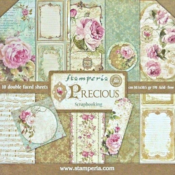 Stamperia  Precious 12x12 10 listů 228,- tvorilci