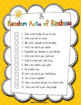 26 random acts of kindness  classroom ideas  kindness