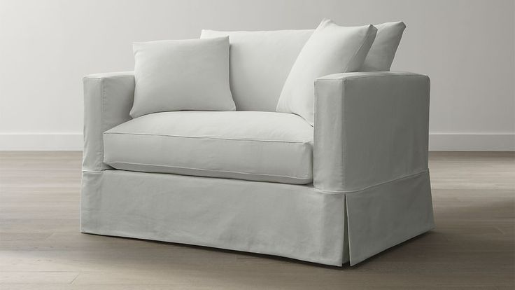 Willow Modern Slipcovered Twin Sleeper Sofa With Air