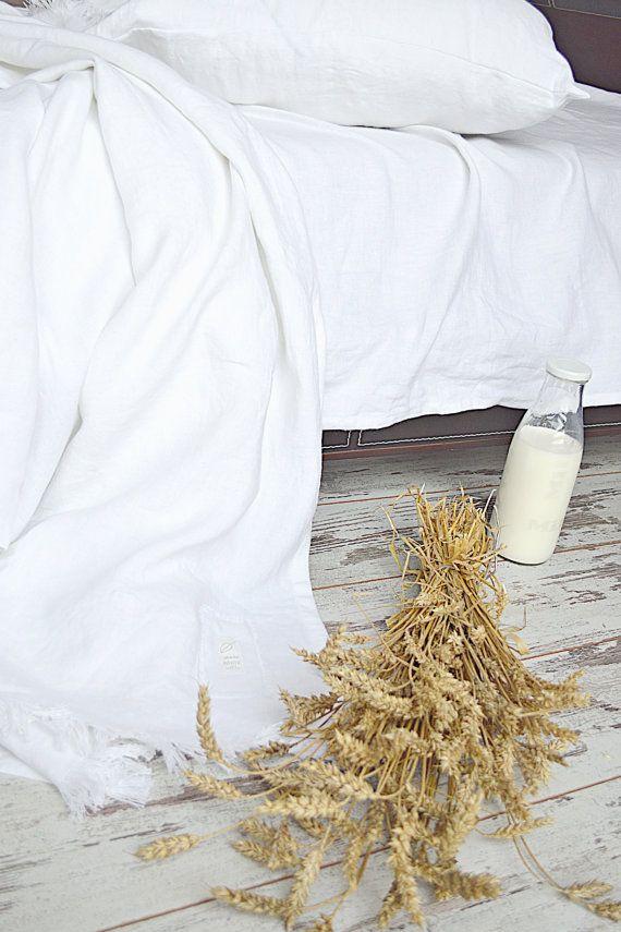 Summer linen bedding set  Very soft linen bedding  от pureWHITEspa