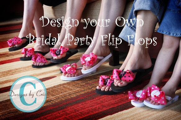Bridesmaid personalized flip flops. This would also be a cute little welcome gift for a girls weekend!