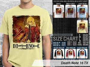 Anime Death Note, Kaos Anime Japan Death Note, Kaos Anime Death Note