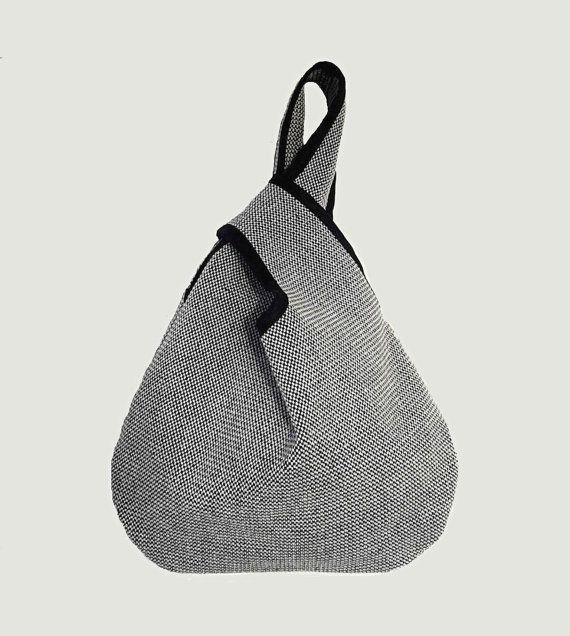 Japanische Tasche Kyoto Bag schwarz-weiß japanischer von VATINEL